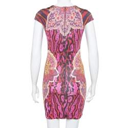 Just Cavalli Multicolor Animal & Abstract Printed Sheath Dress S