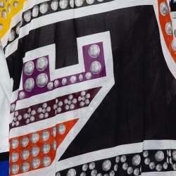 Just Cavalli Multicolor Printed Knit Shift Dress M