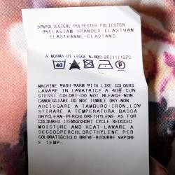 Just Cavalli Beige Floral Printed Satin Maxi Skirt L