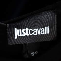 Just Cavalli Black Chiffon Stone Embellished Shift Dress S