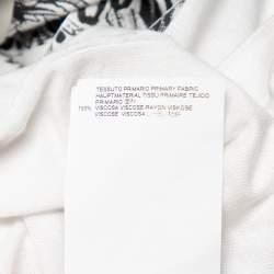 Just Cavalli White Logo Printed Cotton Roundneck T-Shirt L
