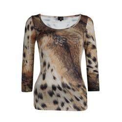 Just Cavalli Animal Print Jersey T-Shirt XS
