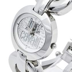 Just Cavalli Silver Stainless Steel R7253109501 Quartz Women's Wristwatch 29 mm