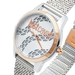 Just Cavalli Silver Two-Tone Stainless Steel JC1L050M0295 Women's Wristwatch 34 mm