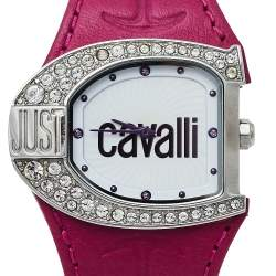 Just Cavalli White Stainless Steel Leather R7251160502 Women's Wristwatch 36 mm