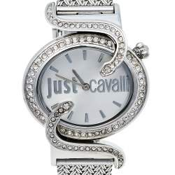 Just Cavalli Silver Stainless Steel Sin R7253591503 Women's Wristwatch 35 mm