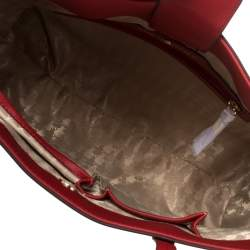 Karl Lagerfeld Red Leather Maybelle Cat Tote