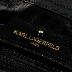 Karl Lagerfeld Black Leather Maybelle Tote
