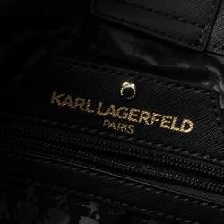حقيبة يد كارل لاغرفيلد مايبيل كات جلد أسود