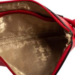 حقيبة كلتش كارل لاغرفيلد شوبيت حمالة معصم جلد أحمر