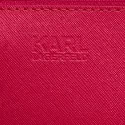 حقيبة يد كارل لاغرفيلد جلد منقوشة رمادية