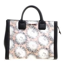 حقيبة يد كارل لاغرفيلد K كلاسيك جلد مطبوعة متعددة الألوان/ سوداء