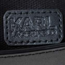 حقيبة خصر كارل لاغرفيلد جلد مبطن أسود