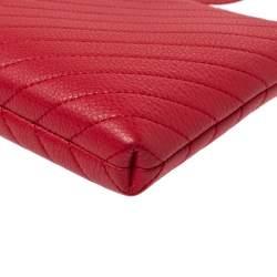Karl Lagerfeld Red Leather Gigi Crossbody Bag