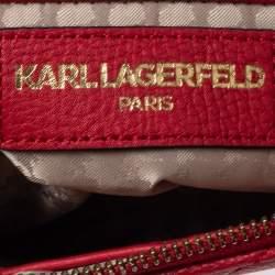 حقيبة كروس كارل لاغرفيلد جيجى جلد حمراء