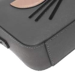 حقيبة كروس كارل لاغرفيلد مايبيل شوبيت جلد رصاصي