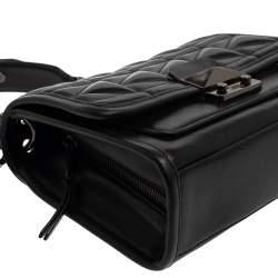Karl Lagerfeld Black Quilted Leather Shoulder Bag