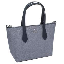 Kate Spade Sliver/Blue Glitter Leather Joeyley Tote