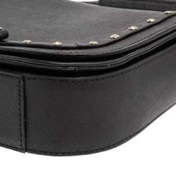 Kate Spade Black Leather Crystal Embellished Carsen Laurel Crossbody Bag