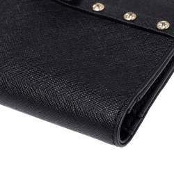 Kate Spade Black Leather Crystal Studded Wallet