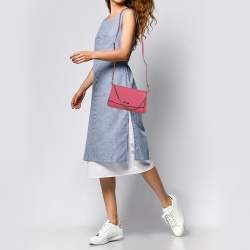 Kate Spade Coral Pink Leather Laurel Way Crossbody Bag