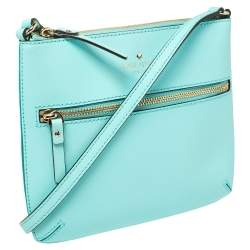 Kate Spade Auqa Blue Leather Cedar Street Tenley Crossbody Bag