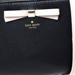 Kate Spade Black/Pink Leather Street Fannie Crossbody Bag
