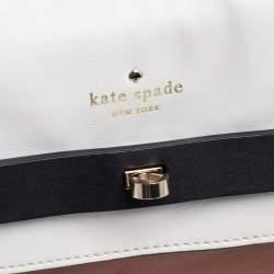 Kate Spade Tri Color Leather Turnlock Buckle Flap Shoulder Bag