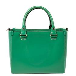 Kate Spade Green Leather Wellesley Quinn Tote