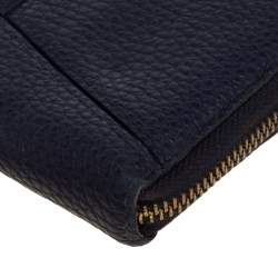 Kate Spade Navy Blue Leather Zip Around Wallet