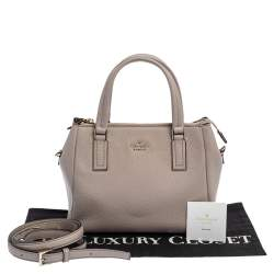 Kate Spade Pale Pink Grained Leather Cameron Tote