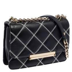 Kate Spade Black Quilted Leather Mini Emerson Place Lawren Crossbody Bag