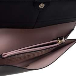 Kate Spade Balck Leather Cyra Flap Continental Wallet