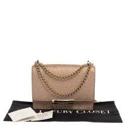 Kate Spade Rose Gold Glitter Burgess Court Shoulder Bag