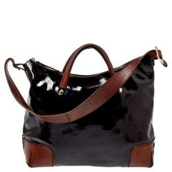 Kate Spade Brown Patent Leather Satchel