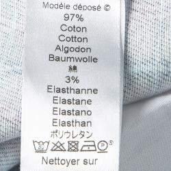 بنطلون جينز كينزو دنيم طباعة كاروهات غير منتظمة متعدد الألوان S