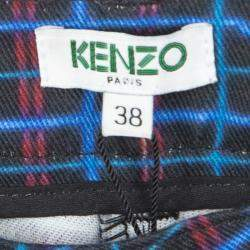 Kenzo Multicolor Printed Denim Straight Fit Jeans M