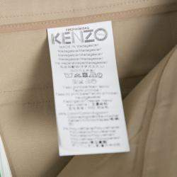 Kenzo Beige Cropped Trousers M