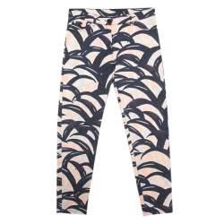 Kenzo Multicolor Palm Leaves Printed Denim Skinny Jeans S