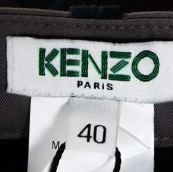 Kenzo Multicolor Abstract Print Side Slit Detail Fitted Skirt M