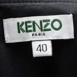 Kenzo Blue Eye Print Detail Long Sleeve Dress M