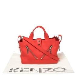 Kenzo Cherry Red Leather Kalifornia Tote