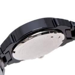 Lancaster Black Ceramic Stainless Steel Ref.0285 Women's Wristwatch 39 mm