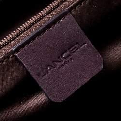 Lancel Dark Purple Leather Tote