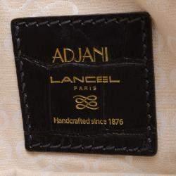 Lancel Black Embossed Large Adjani Satchel