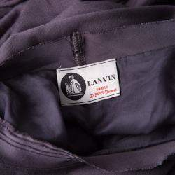 Lanvin Purple Frayed Satin Trim T-Shirt M
