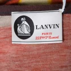 Lanvin Blurry Lights Printed Jersey Racer Back Tank Maxi Dress S