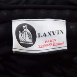 Lanvin Black Embellished Neck Raw Edge Detail Tank Top XS