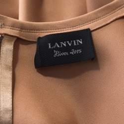 Lanvin  Beige Stretch-Wool Sleeveless Sheath Dress M