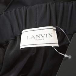 Lanvin Black Satin Elasticized Waist Harem Pants L